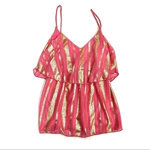 Karlie Tank Pink and Gold Stripes Video Included